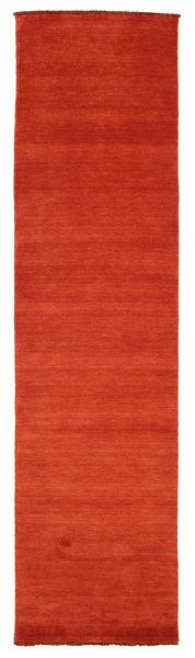 Handloom Fringes - Ruoste/Punainen Matto 80X300 Moderni Käytävämatto Ruoste (Villa, Intia)