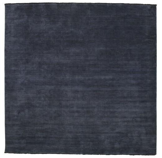 Handloom Fringes - Tummansininen Matto 300X300 Moderni Neliö Tummansininen Isot (Villa, Intia)