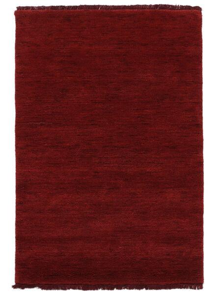Handloom Fringes - Tummanpunainen Matto 120X180 Moderni Punainen (Villa, Intia)