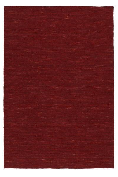 Kelim Loom - Tummanpunainen Matto 160X230 Moderni Käsinkudottu Punainen (Villa, Intia)