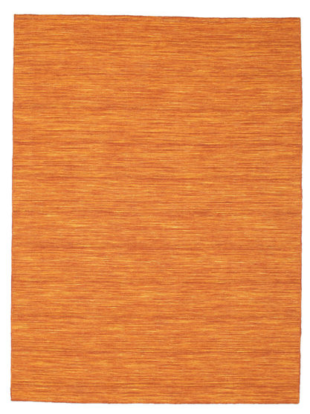 Kelim Loom - Oranssi Matto 160X230 Moderni Käsinkudottu Oranssi (Villa, Intia)