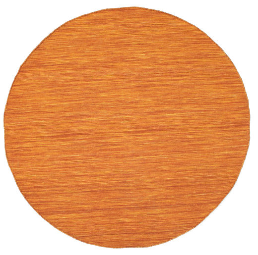 Kelim Loom - Oranssi Matto Ø 150 Moderni Käsinkudottu Pyöreä Oranssi (Villa, Intia)