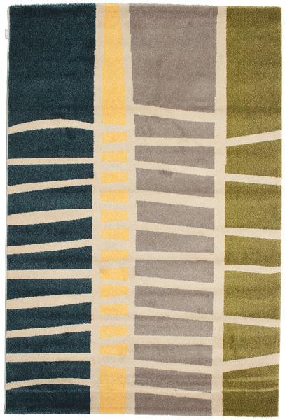 Abstract Bamboo Matto 160X230 Moderni Tummansininen/Vaaleanharmaa ( Turkki)