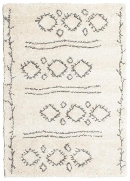 Berber Shaggy Yani Matto 160X230 Moderni Beige/Vaaleanharmaa ( Turkki)