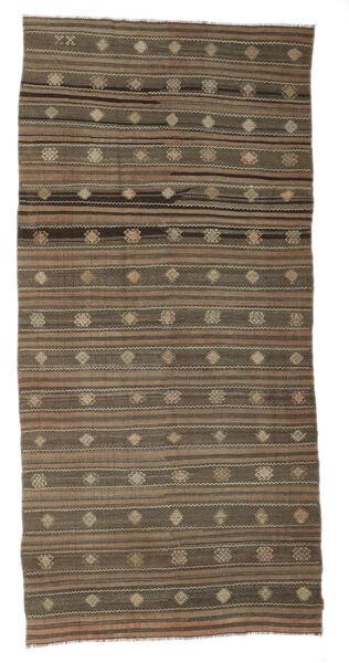 Kelim Semiantiikki Turkki Matto 172X357 Itämainen Käsinkudottu Ruskea/Vaaleanharmaa (Villa, Turkki)