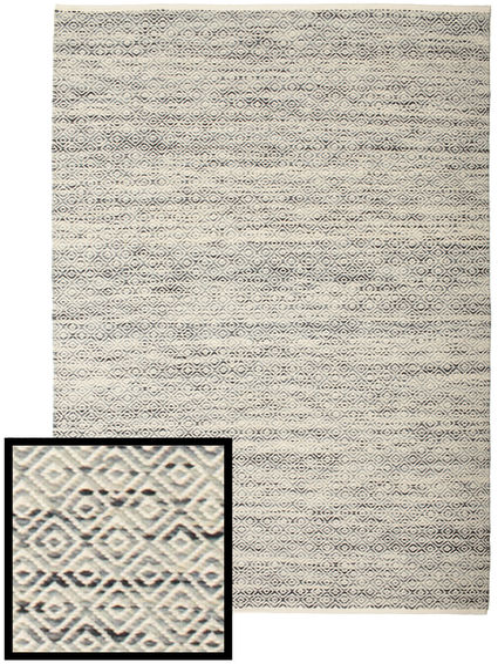 Hugo - Musta/Harmaa Matto 200X300 Moderni Käsinkudottu Vaaleanharmaa/Tummanbeige ( Intia)
