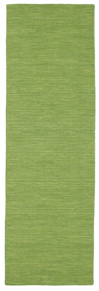 Kelim Loom - Vihreä Matto 0X0 Moderni Käsinkudottu Käytävämatto Oliivinvihreä (Villa, Intia)