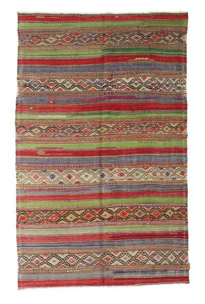 Kelim Semiantiikki Turkki Matto 166X265 Itämainen Käsinkudottu Tummanpunainen/Vaaleanharmaa (Villa, Turkki)