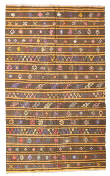 Kelim Semiantiikki Turkki Matto 165X270 Itämainen Käsinkudottu Ruskea/Vaaleanruskea (Villa, Turkki)