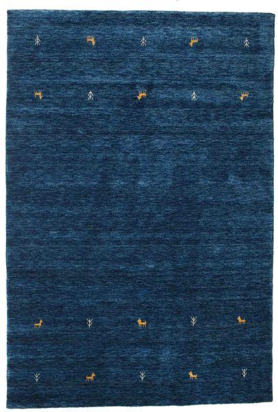 Gabbeh Loom Two Lines - Tummansininen Matto 160X230 Moderni Tummansininen (Villa, Intia)