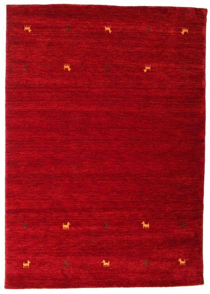 Gabbeh Loom Two Lines - Punainen Matto 160X230 Moderni Punainen/Tummanpunainen (Villa, Intia)
