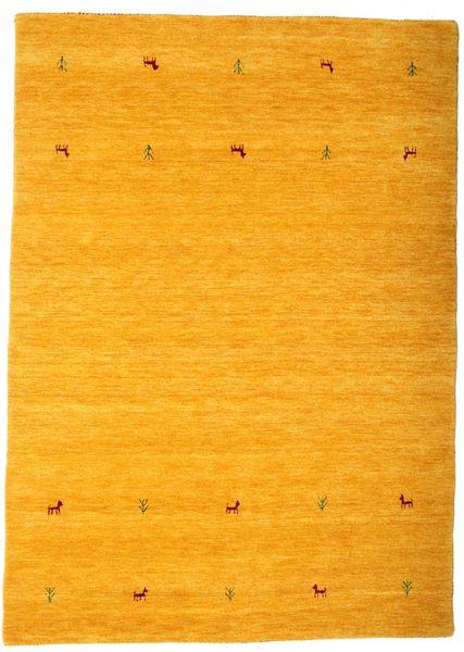 Gabbeh Loom Two Lines - Keltainen Matto 160X230 Moderni Oranssi/Keltainen (Villa, Intia)