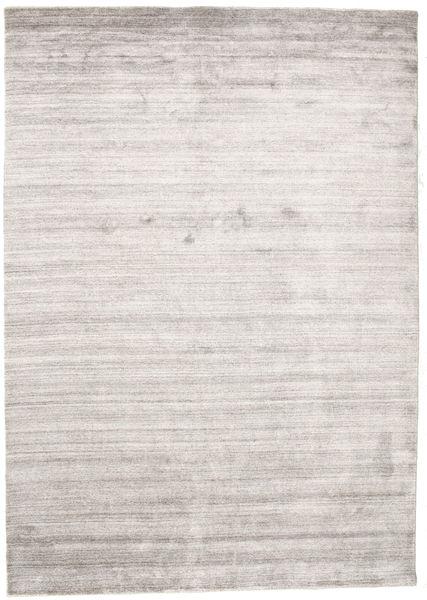 Bamboo Silkki Loom - Warm Harmaa Matto 160X230 Moderni Vaaleanharmaa/Valkoinen/Creme ( Intia)