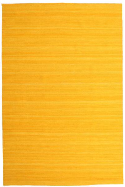 Kelim Loom - Keltainen Matto 200X300 Moderni Käsinkudottu Oranssi/Keltainen (Villa, Intia)