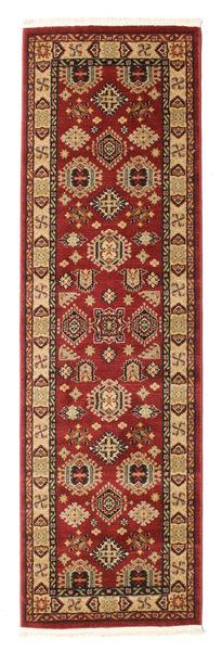 Şirvan Kazak Matto 80X250 Itämainen Käytävämatto Tummanpunainen/Vaaleanruskea ( Turkki)