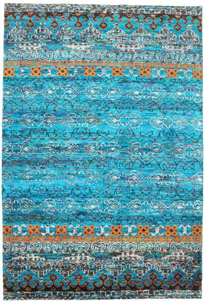 Quito - Turquoise Matto 190X290 Moderni Käsinsolmittu Siniturkoosi/Sininen (Silkki, Intia)
