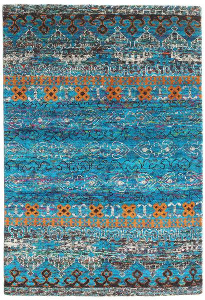 Quito - Turquoise Matto 160X230 Moderni Käsinsolmittu Siniturkoosi/Tummanharmaa (Silkki, Intia)