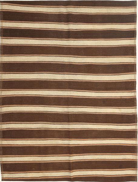 Kelim Moderni Matto 165X221 Moderni Käsinkudottu Tummanruskea/Ruskea/Beige (Villa, Persia/Iran)