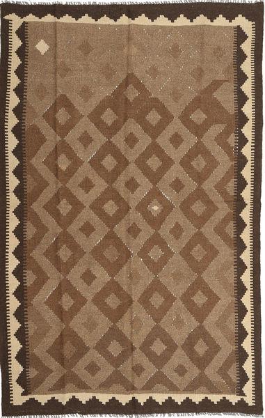Kelim Maimane Matto 160X249 Itämainen Käsinkudottu Ruskea/Tummanruskea (Villa, Afganistan)