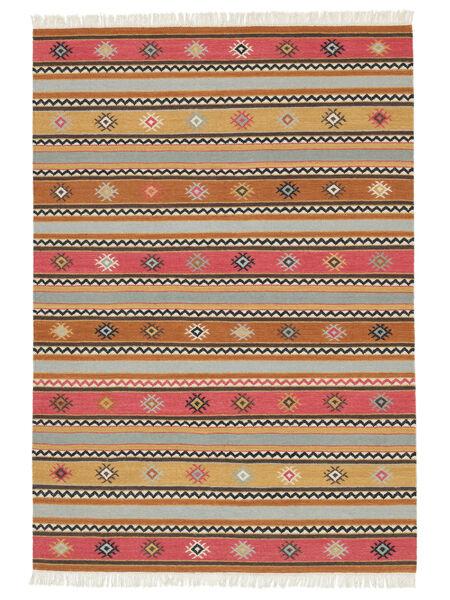 Kelim - Nezzim - Nezzim Matto 170X240 Moderni Käsinkudottu Vaaleanruskea/Vaaleanharmaa ( Intia)