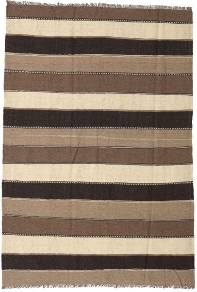 Kelim Matto 170X250 Itämainen Käsinkudottu Ruskea/Tummanruskea/Beige (Villa, Persia/Iran)