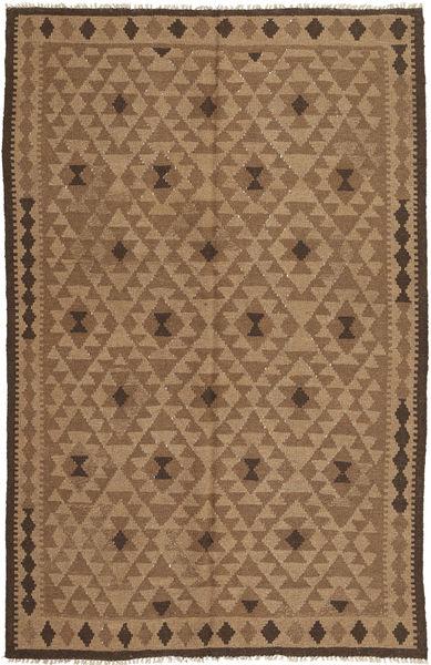 Kelim Matto 164X253 Itämainen Käsinkudottu Ruskea/Vaaleanruskea (Villa, Persia/Iran)