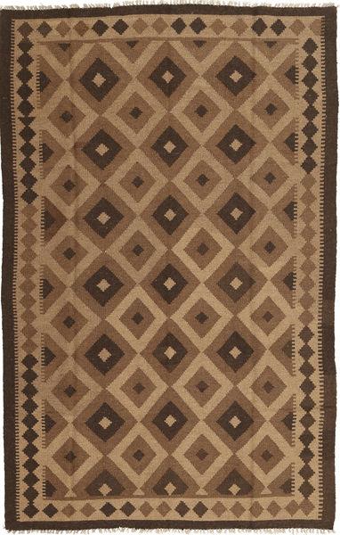 Kelim Matto 156X248 Itämainen Käsinkudottu Vaaleanruskea/Ruskea/Tummanruskea (Villa, Persia/Iran)