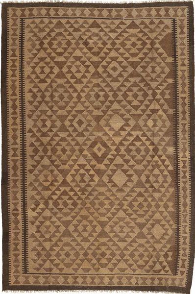 Kelim Matto 164X247 Itämainen Käsinkudottu Ruskea/Vaaleanruskea (Villa, Persia/Iran)