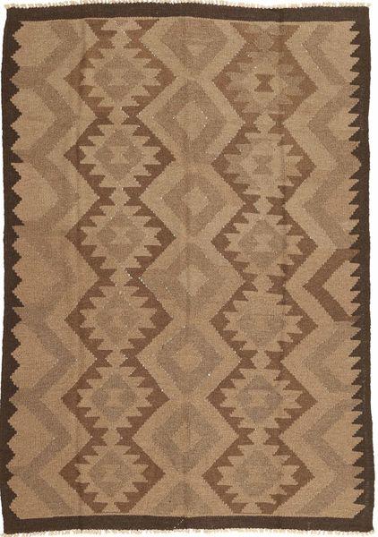 Kelim Matto 160X231 Itämainen Käsinkudottu Ruskea/Tummanruskea (Villa, Persia/Iran)