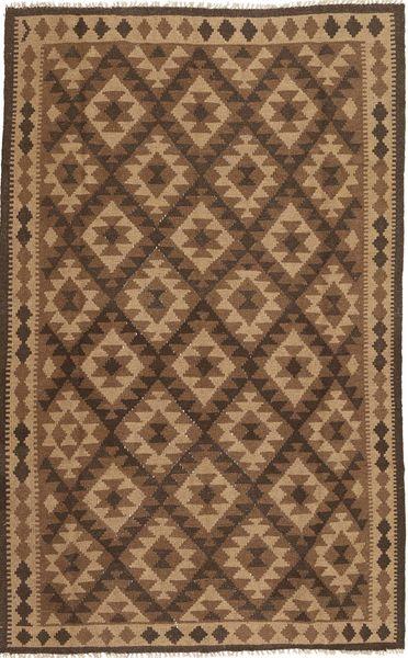 Kelim Matto 157X253 Itämainen Käsinkudottu Ruskea/Tummanruskea (Villa, Persia/Iran)