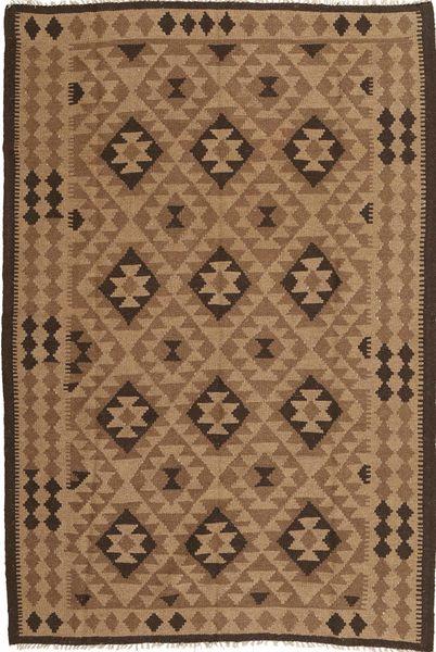 Kelim Matto 166X246 Itämainen Käsinkudottu Ruskea/Vaaleanruskea (Villa, Persia/Iran)