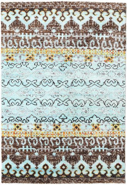 Quito - L. Sininen Matto 160X230 Moderni Käsinsolmittu Vaaleanharmaa/Vaaleansininen (Silkki, Intia)