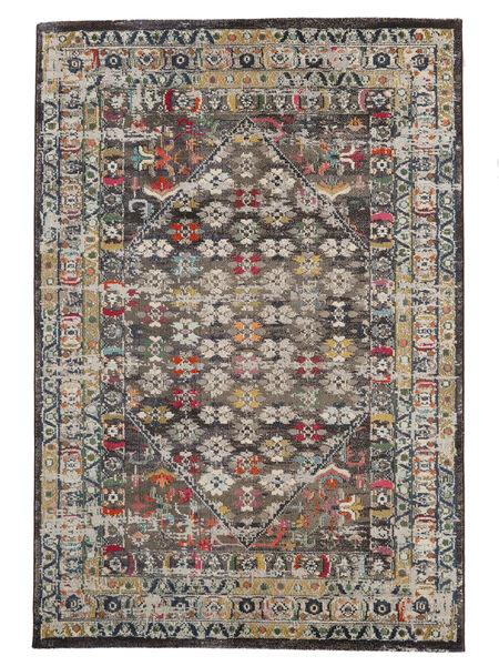 Chillon - Ruskea/Multi Matto 160X230 Moderni Vaaleanharmaa/Tummanharmaa ( Turkki)