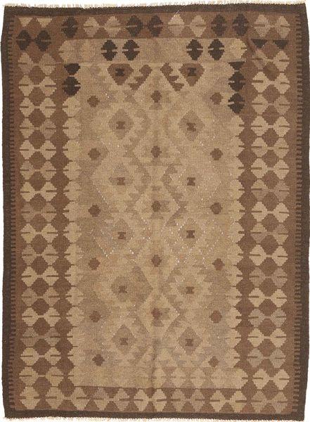 Kelim Maimane Matto 160X230 Itämainen Käsinkudottu Ruskea/Vaaleanruskea (Villa, Afganistan)