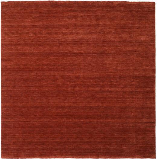 Handloom Fringes - Deep Rust Matto 250X250 Moderni Neliö Punainen/Ruoste Isot (Villa, Intia)