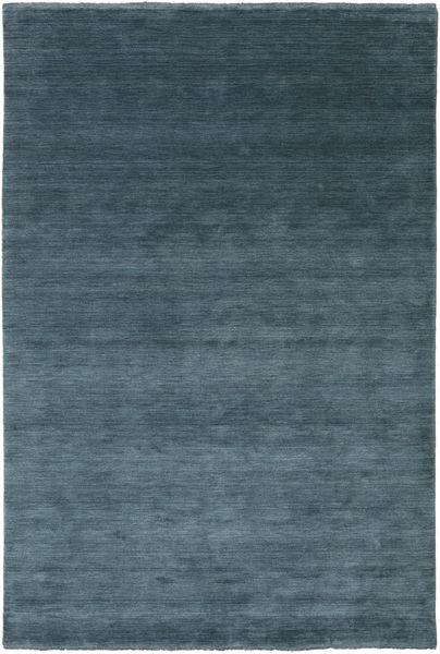 Handloom Fringes - Deep Petrol Matto 200X300 Moderni Sininen/Tummansininen (Villa, Intia)