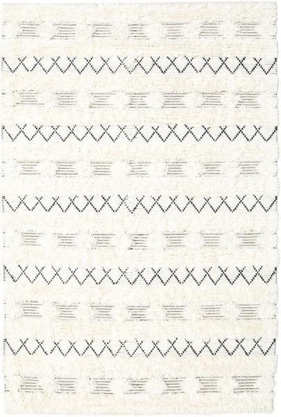 Shedir - Valkoinen Matto 160X230 Moderni Käsinkudottu Beige/Valkoinen/Creme (Villa, Intia)
