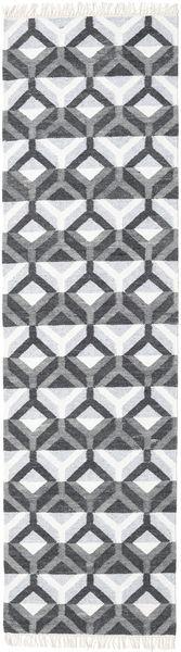 Aino Matto 80X300 Moderni Käsinkudottu Käytävämatto Valkoinen/Creme/Vaaleansininen/Violetti (Villa/Bambu Silkki, Intia)