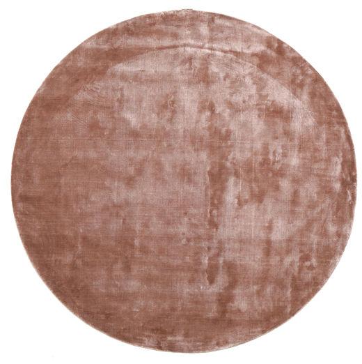 Broadway - Dusty Rose Matto Ø 300 Moderni Pyöreä Tummanpunainen/Vaaleanpunainen/Vaaleanruskea Isot ( Intia)
