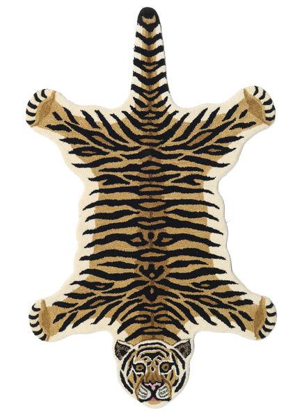Tiger - Beige Matto 100X160 Moderni Tummansininen/Vaaleanruskea (Villa, Intia)