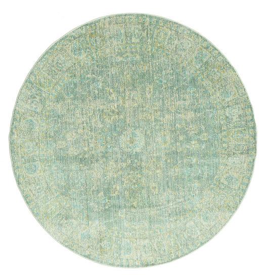 Maharani - Vihreä Matto Ø 150 Moderni Pyöreä Pastellinvihreä ( Turkki)