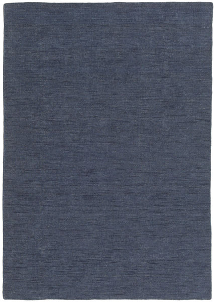 Kelim Loom - Denim Sininen Matto 160X230 Moderni Käsinkudottu Sininen (Villa, Intia)
