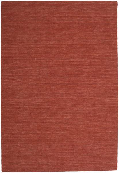 Kelim Loom - Ruoste Matto 200X300 Moderni Käsinkudottu Tummanpunainen (Villa, Intia)