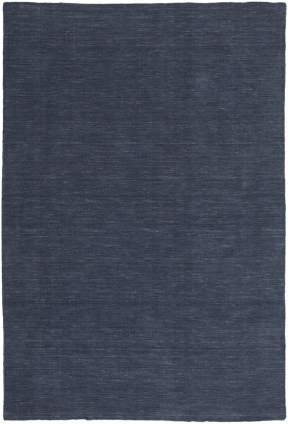 Kelim Loom - Denim Sininen Matto 200X300 Moderni Käsinkudottu Tummansininen/Sininen (Villa, Intia)