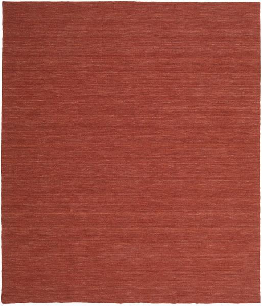 Kelim Loom - Ruoste Matto 250X300 Moderni Käsinkudottu Tummanpunainen Isot (Villa, Intia)