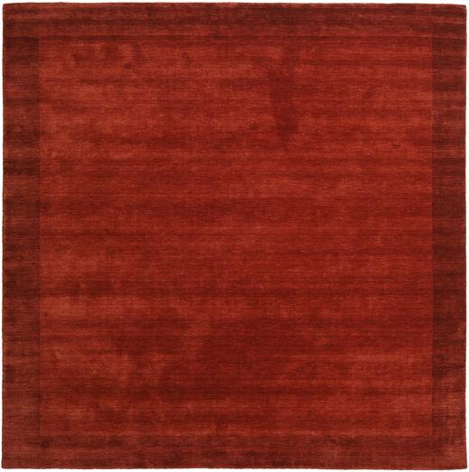 Handloom Frame - Ruoste Matto 300X300 Moderni Neliö Ruoste/Punainen Isot (Villa, Intia)