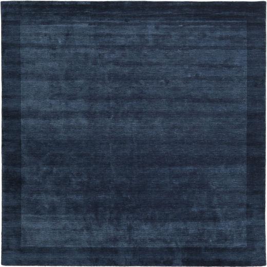 Handloom Frame - Tummansininen Matto 300X300 Moderni Neliö Tummansininen Isot (Villa, Intia)