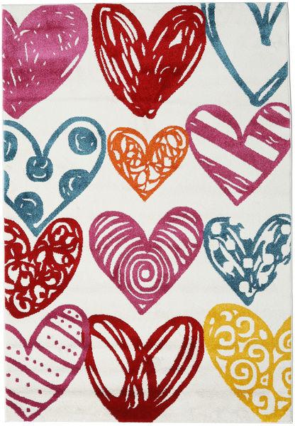 Sweethearts Matto 140X200 Moderni Beige/Pinkki ( Turkki)
