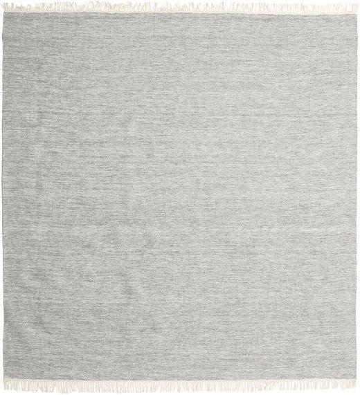 Melange - Harmaa Matto 250X250 Moderni Käsinkudottu Neliö Vaaleanharmaa Isot (Villa, Intia)