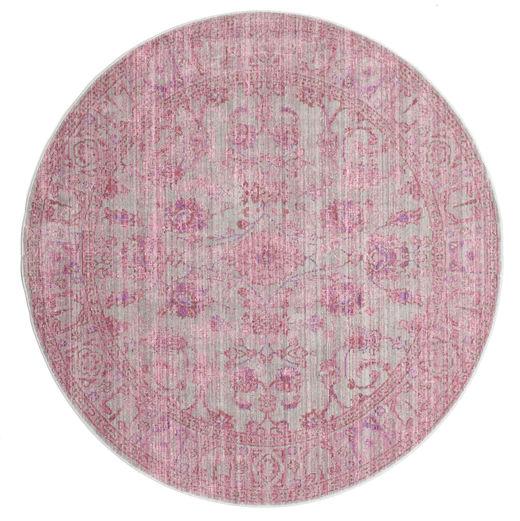 Maharani - Harmaa/Roosa Matto Ø 200 Moderni Pyöreä Vaaleanpunainen ( Turkki)
